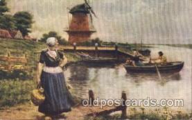 dut001008 - The dutch milkmaid Dutch Children Postcard Post Card