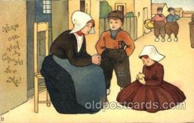 dut001020 - Dutch Children Old Vintage Antique Postcard Post Card