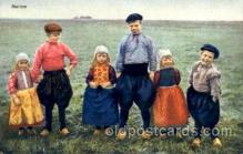 dut001021 - Dutch Children Old Vintage Antique Postcard Post Card