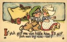 dut001025 - Dutch Children Old Vintage Antique Postcard Post Card