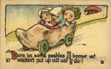 dut001028 - Dutch Children Old Vintage Antique Postcard Post Card
