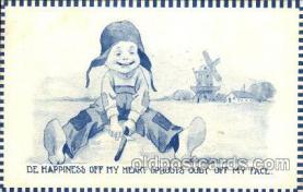 dut001031 - Artist Bernhardt Wall, Dutch Children Old Vintage Antique Postcard Post Card