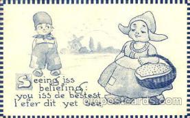 dut001033 - Artist Bernhardt Wall, Dutch Children Old Vintage Antique Postcard Post Card