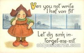 dut001034 - Artist Bernhardt Wall, Dutch Children Old Vintage Antique Postcard Post Card
