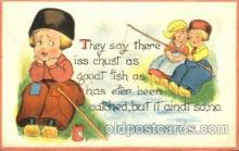 dut001038 - Artist Bernhardt Wall, Dutch Children Old Vintage Antique Postcard Post Card