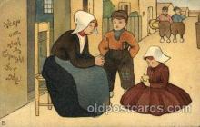 dut001042 - Dutch Children Old Vintage Antique Postcard Post Card