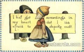 dut001045 - Artist Bernhardt Wall, Dutch Children Old Vintage Antique Postcard Post Card