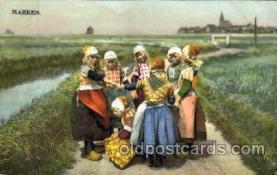 dut001046 - Dutch Children Old Vintage Antique Postcard Post Card