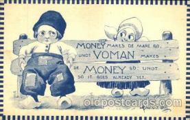 dut001049 - Artist Bernhardt Wall, Dutch Children Old Vintage Antique Postcard Post Card