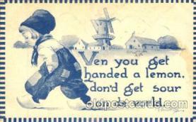 dut001051 - Artist Bernhardt Wall, Dutch Children Old Vintage Antique Postcard Post Card
