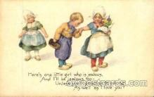 dut001057 - Dutch Children Old Vintage Antique Postcard Post Card