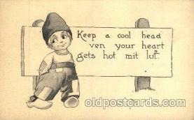 dut001059 - Artist Bernhardt Wall, Dutch Children Old Vintage Antique Postcard Post Card