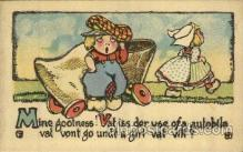 dut001062 - Dutch Children Old Vintage Antique Postcard Post Card