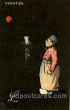 dut001063 - Dutch Children Old Vintage Antique Postcard Post Card