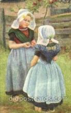 dut001066 - Dutch Children Old Vintage Antique Postcard Post Card