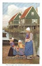 dut001069 - Dutch Children Old Vintage Antique Postcard Post Card