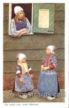 dut001074 - Dutch Children Old Vintage Antique Postcard Post Card