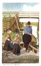 dut001075 - Dutch Children Old Vintage Antique Postcard Post Card
