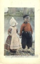 dut001076 - Dutch Children Old Vintage Antique Postcard Post Card