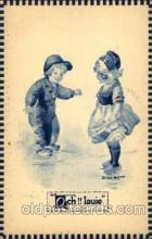 dut001080 - Dutch Children Old Vintage Antique Postcard Post Card