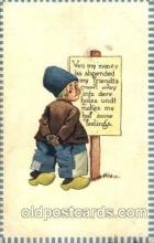 dut001082 - Artist Bernhardt Wall, Dutch Children Old Vintage Antique Postcard Post Card