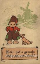 dut001091 - Artist Bernhardt Wall, Dutch Children Old Vintage Antique Postcard Post Card