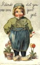 dut001093 - Dutch Children Old Vintage Antique Postcard Post Card