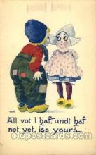 dut001096 - Artist Bernhardt Wall, Dutch Children Old Vintage Antique Postcard Post Card