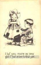 dut001097 - Artist Bernhardt Wall, Dutch Children Old Vintage Antique Postcard Post Card