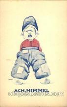 dut001098 - Artist Bernhardt Wall, Dutch Children Old Vintage Antique Postcard Post Card