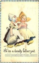 dut001100 - Artist Bernhardt Wall, Dutch Children Old Vintage Antique Postcard Post Card