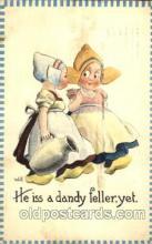 dut001100 - Artist Bernhardt Wall, Dutch Children Old Vintage Antique Postcard Post Card