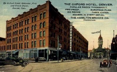 dep-CO015 - Arch and Union Depot, Denver, CO, Colorado, USA Railroad Train Depot Postcard Post Card