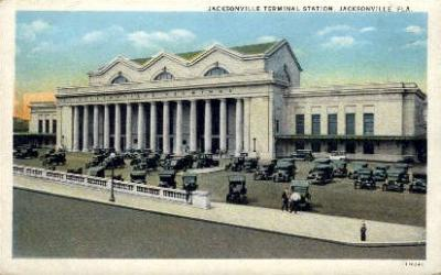 dep-FL005 - Jacksonville Terminal Station, Jacksonville, Florida FL, USA Railroad Train Depot Postcard Post Card