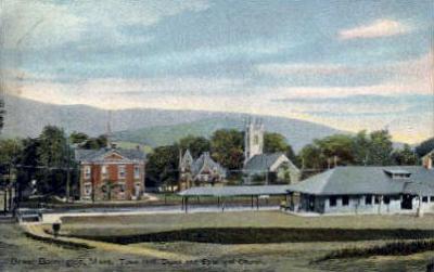 dep-MA036 - Great Barrington, Massachusetts, MA, USA, Railroad Train Depot Postcard Post Card