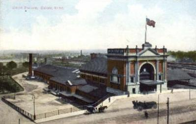 dep-NE005 - Union Station, Omaha, Nebraska, NE, USA Railroad Train Depot Postcard Post Card