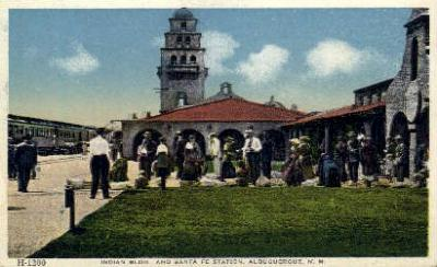 dep-NM004 - Sante Fe Station, Albuquerque, New Mexico, NM, USARailroad Train Depot Postcard Post Card