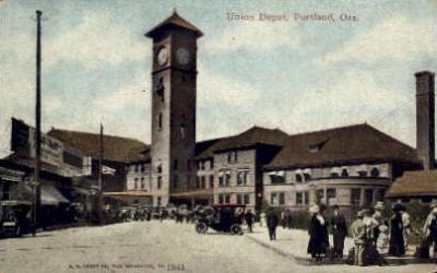 dep-OR015 - Union Depot, Portland, Oregon, OR, USA Railroad Train Depot Postcard Post Card