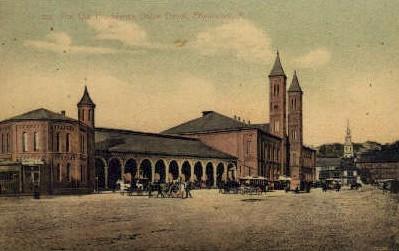 dep-RI007 - The Old Providence Union Depot, Providence, Rhode Island, RI, USA Railroad Train Depot Postcard Post Card