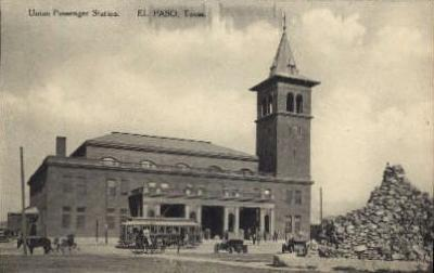 dep-TX002 - Union Passenger Station, El Paso, Texas, TX, USA Railroad Train Depot Postcard Post Card
