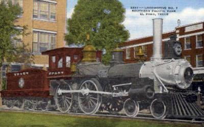 dep-TX009 - Southern Pacific Park, El Paso, Texas, TX, USA Railroad Train Depot Postcard Post Card