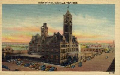 dep-TX021 - Union Station, Nashville, Texas, TX, USA Railroad Train Depot Postcard Post Card