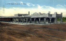 dep-AL003 - L. And N. Depot, Cullman, AL, Alabama, USA Railroad Train Depot Postcard Post Card