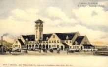 dep-AR001 - Union Station, Little Rock, AR, Arkansas, USA Railroad Train Depot Postcard Post Card
