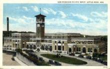 dep-AR002 - New Missouri Pacific Depot, Little Rock, AR, Arkansas, USA Railroad Train Depot Postcard Post Card