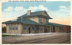 dep-CA006 - Southern Pacific Depot, Santa Rosa, CA, California, USA Railroad Train Depot Postcard Post Card