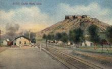 dep-CO002 - Castle Rock, CO, Colorado, USA Railroad Train Depot Postcard Post Card