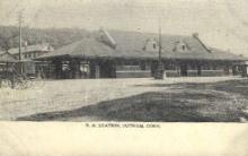 dep-CT002 - R.R. Station, Putnam, Connecticut CT, USA Railroad Train Depot Postcard Post Card