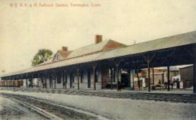 dep-CT003 - N.Y. N.H. and H. Railroad Station, Torrington, Connecticut CT, USA Railroad Train Depot Postcard Post Card