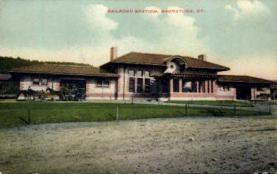 dep-CT010 - Railroad Station, Naugatuck, Connecticut CT, USA Railroad Train Depot Postcard Post Card